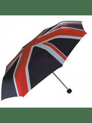 Wholesale Compact Umbrella - Union Jack Print