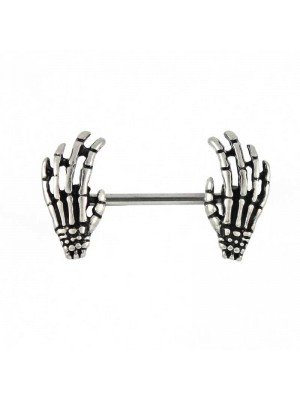 Wholesale Skeleton Hand Nipple Bar