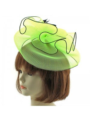 Large Fascinator with Clip - Green