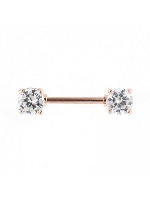 Wholesale Rose Gold Rounds Nipple Bar