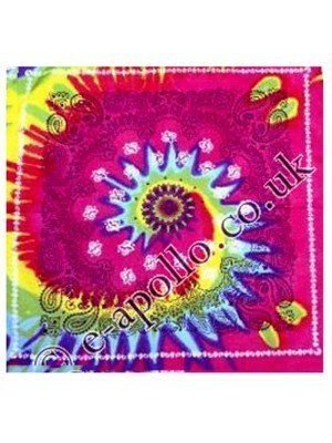 Wholesale Multicoloured Tie Dye Bandannas