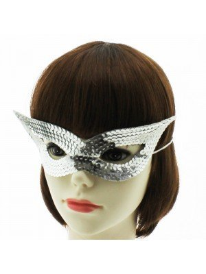 Sequined Eye Mask - Silver