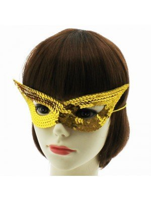 Sequined Eye Mask - Gold