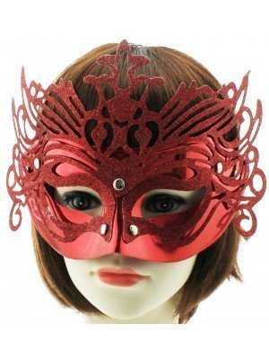 Glitter Face Mask - Red