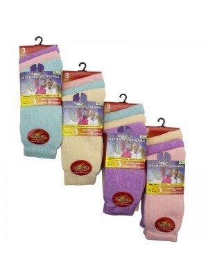 Wholesale Ladies Pastel Warm Winter Thermal Socks (3 Pair Pack) - Asst.