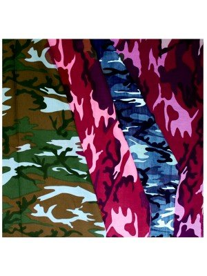 Camouflage Print Bandanas Assorted Colours