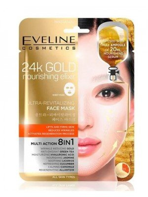 Eveline Cosmetics 24K Gold Nourishing Elixir Ultra-Revitalising Face Mask