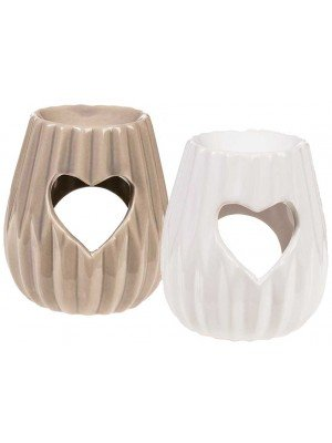 Wholesale Ceramic Oil Burner With Heart Design-Assorted Design(10 x 8.5)