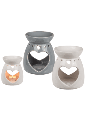 Ceramic Oil Burner Heart - Assorted Colours