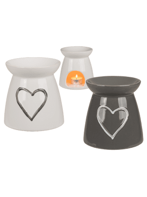 Ceramic Heart Design Oil Burners - Assorted Colours