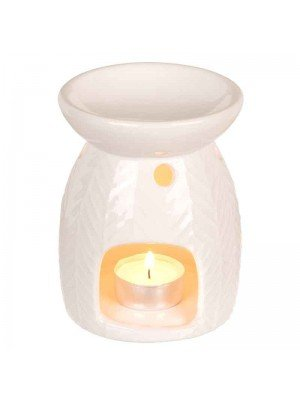 Wholesale White Ceramic Oil Burner with Wave Pattern