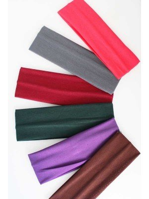 Wholesale Plain 7cm Wide Headband-Assorted Colours