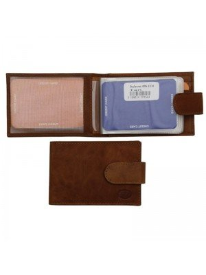 Wholesale Men's Florentino Leather Card Wallet With 16 Card Slots - Tan