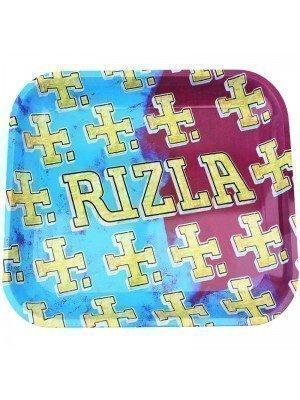Wholesale Rizla Multi Logo Metal Rolling Tray - Large (34 x 27 cm)