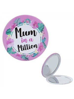 Mum in a Million Compact Mirror - 7.5cm x 7.5cm