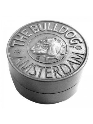 Wholesale 2-Part Metal Grinder The Bulldog - Silver