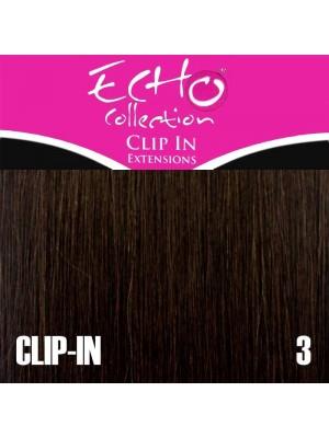 "Echo Human Hair Extensions - Clip-in - Colour: 3 - 14"""