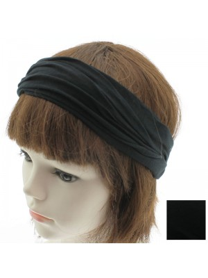 3 in 1 Multi Use Fabric Bandeaux Headband - Black