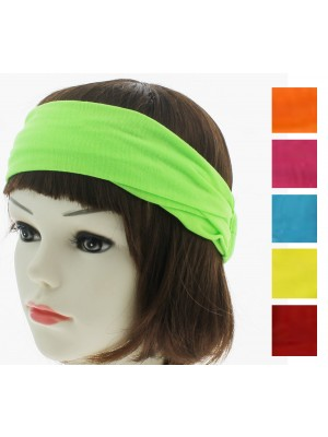 3 in 1 Multi Use Fabric Bandeaux Headband (Bright Assorted)
