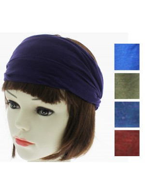 3 in 1 Multi Use Fabric Bandeaux Headband (Dark Assorted)