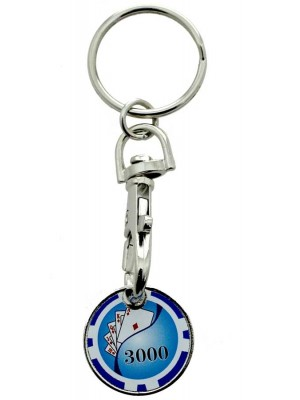 Wholesale Trolley Coin Keyrings-Poker Chips(Assorted)