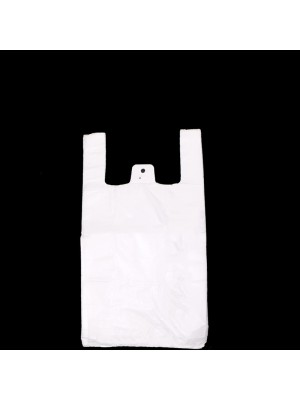"White Plastic Carrier Bags Small 17"" x 11"""