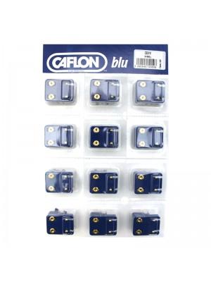 Caflon Blu Mini Gold Ball Studs