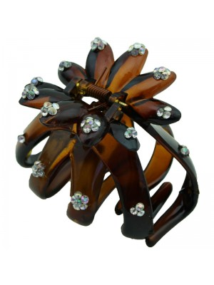 Ladies Fashion Clamps with Gems (Tort) 7cm
