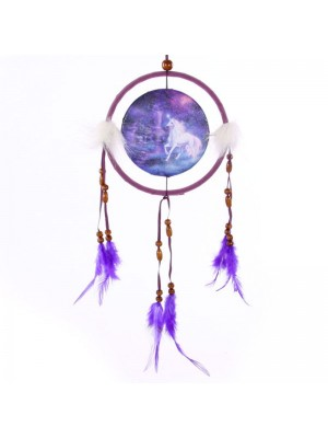 Fantasy Dreamcatcher Print - Unicorn Brook 16cm wholesale