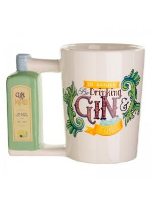 Ceramic Gin Bottle Shaped Handle Mug - 400ml