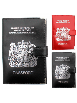 Leather Passport Holder (Assorted Colours)