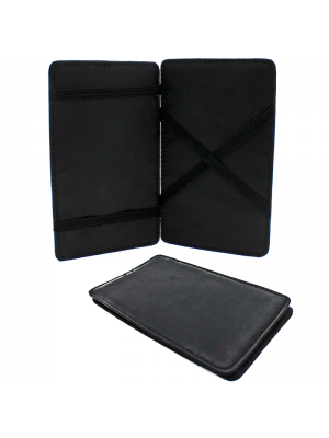 Fabretti Large Leather Document Holder - Black