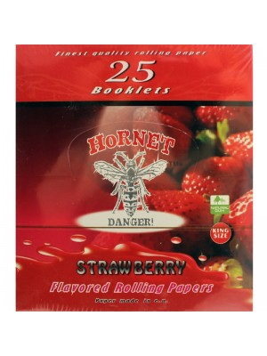 Wholesale Hornet Flavoured King Size Rolling Papers - Strawberry