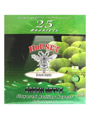 Wholesale Hornet Flavoured King Size Rolling Papers - Green Apple