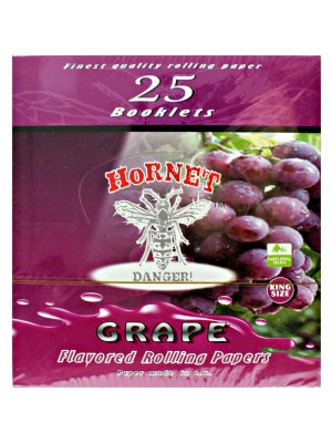 Wholesale Hornet Flavoured King Size Rolling Papers - Grape