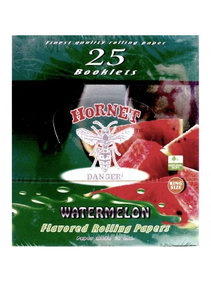 Wholesale Hornet Flavoured King Size Rolling Papers - Watermelon
