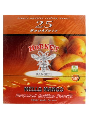 Wholesale Hornet Flavoured King Size Rolling Papers - Mello Mango