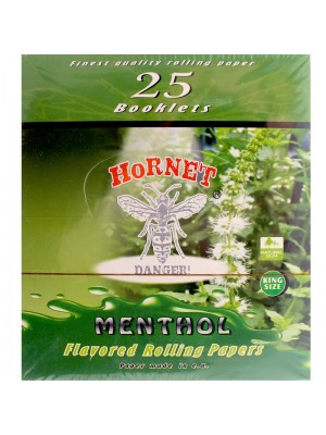 Wholesale Hornet Flavoured King Size Rolling Papers - Menthol