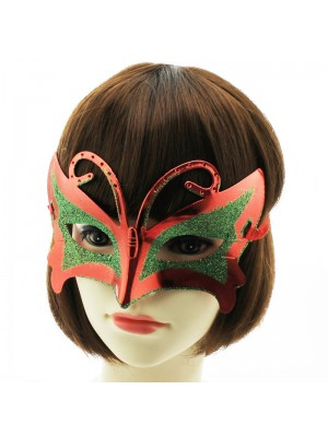 Butterfly Shaped Party Mask with Glitter Assorted