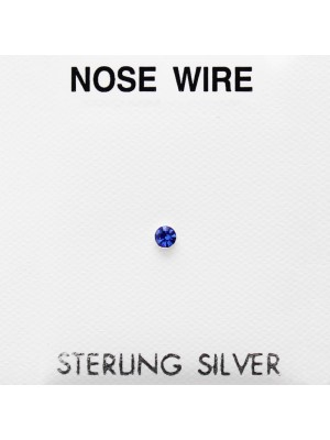 Sterling Silver Cup Nose Wires - Assorted Colours (2mm)