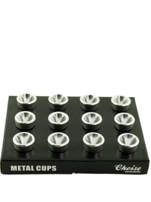 Metal Cups Silver Medium
