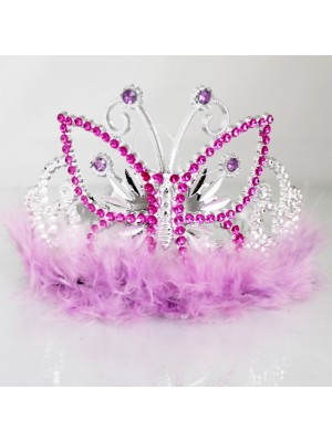 Butterfly Design Plastic Tiara - Assorted Colours