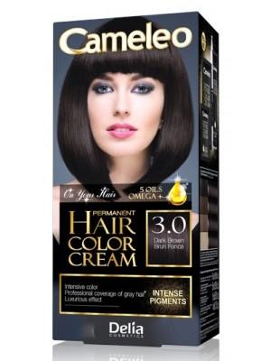 Wholesale Delia Cameleo Permanent Hair Colour Cream - 3.0 Dark Brown