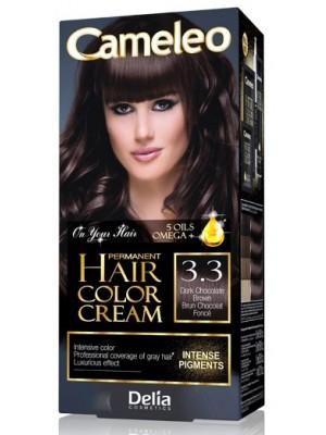Wholesale Delia Cameleo Permanent Hair Colour Cream - 3.3 Dark Chocolate Brown