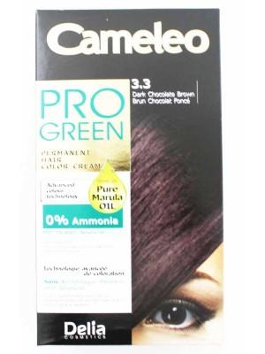 Wholesale Delia Cosmetics Cameleo Pro Green Permanent Hair Colour Cream-3.3(Dark Chocolate Brown)