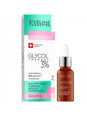 Wholesale Eveline Glycol Therapy 3 Multipeptide Anti-wrinkle Treatment Face Serum-18ml