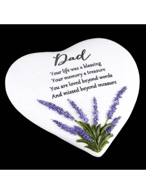 Dad Graveside Heart Stone