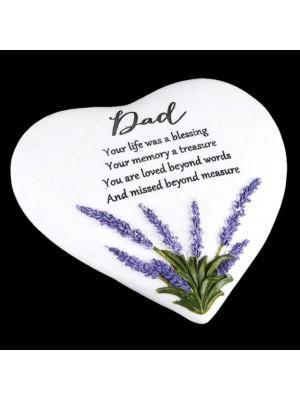 Wholesale Dad Graveside Heart Stone