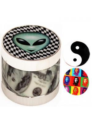 3 Parts Magnetic Plastic Grinder - Assorted Designs