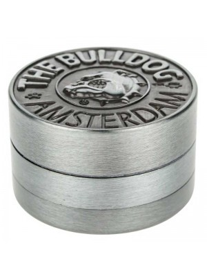 Wholesale 3-Part Metal Grinder The Bulldog - Silver